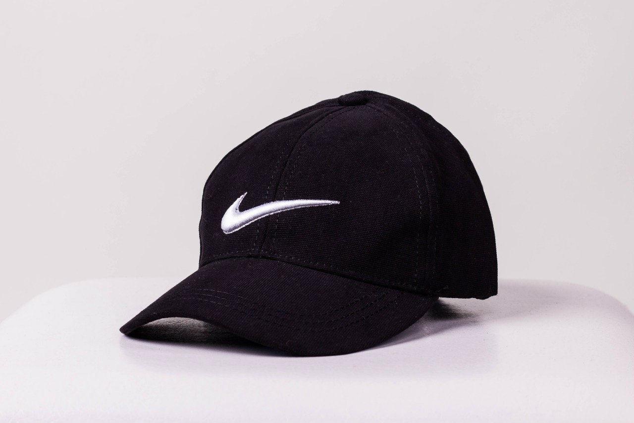Кепка Nike мужская   женская найк черная белое лого