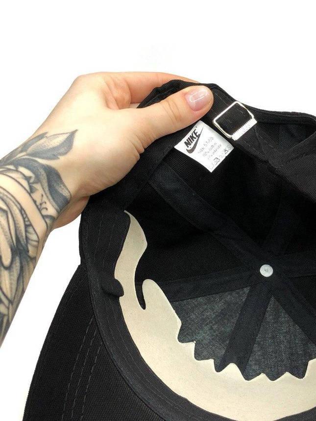 Кепка Nike мужская   женская найк черная белое лого, фото 2