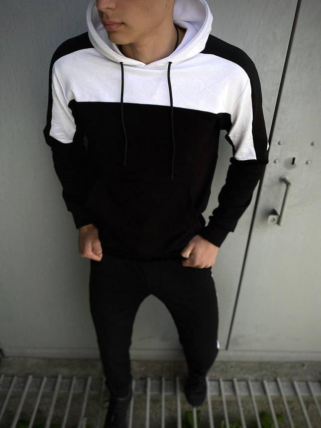 Мужской спортивный костюм Spirited черный-белый Intruder + Подарок, фото 2