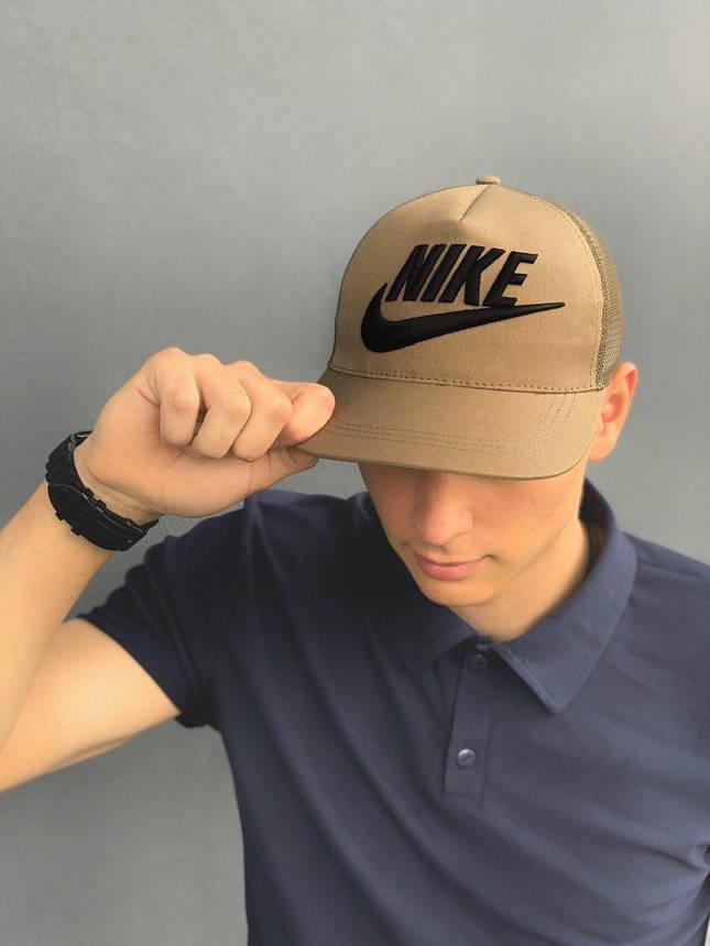 Кепка Nike мужская | женская найк хаки big black logo, фото 2