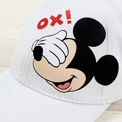 Кепка жіноча біла з принтом Mickey Mouse міккі маус, фото 3