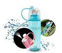 Бутылка для воды SL-DF077 пластик 400мл (без возврата, без обмена), фото 1