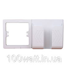 Рамка тримач телефону на стіну під розетку Білий Пластик