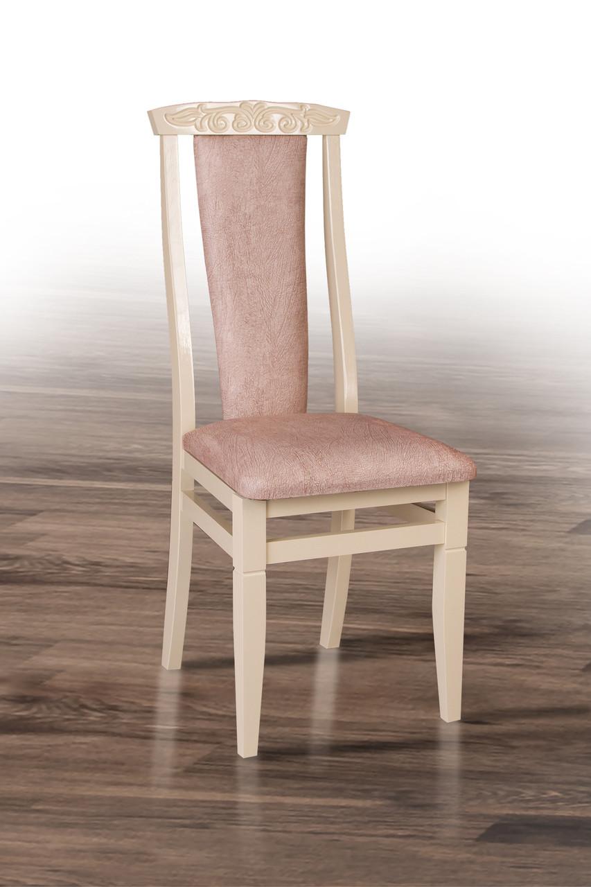 Стул обеденный Чумак-2 Микс мебель, цвет слоновая кость + оббивка Самба 02