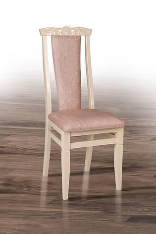 Стул обеденный Чумак-2 Микс мебель, цвет слоновая кость + оббивка Самба 02, фото 2