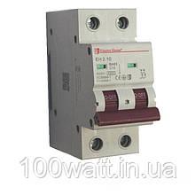 Автоматичний вимикач 2  полюса 10 A