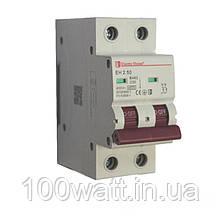 Автоматичний вимикач 2  полюса 50 A