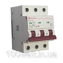 Автоматичний вимикач 3  полюса 16 A