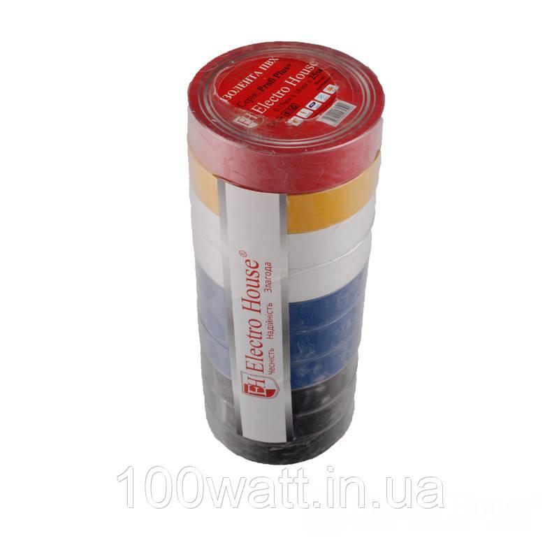 ElectroHouse Изолента ассорти 0,15мм х 18мм х 25м
