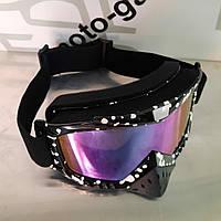 Очки кроссовые KML (mod:WL-EC009, черные, стекло хамелеон)