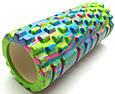Массажер валик, ролик массажный для спины и йоги MS 0857-1 (4 цвета), фото 9