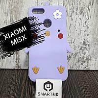Чехол с рисунком для Xiaomi Mi 5X Сиреневый, фото 1