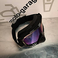 Очки кроссовые KML (mod:WL-EC008, черные, стекло хамелеон), фото 1
