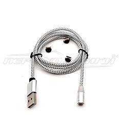 Кабель магнітний 3 в 1 USB to Type-C, micro USB, Lightning, ганчіркова оплетка, 1 м