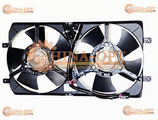 Дифузор радиатора в сборе с вентиляторами Чери Амулет Карри Chery Amulet Karry 1.5 1.6 MT