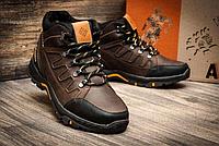 Мужские зимние кожаные ботинки Columbia NS Chocolate, фото 1