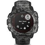 Часы-навигатор Garmin Instinct Solar Graphite Camo, фото 7