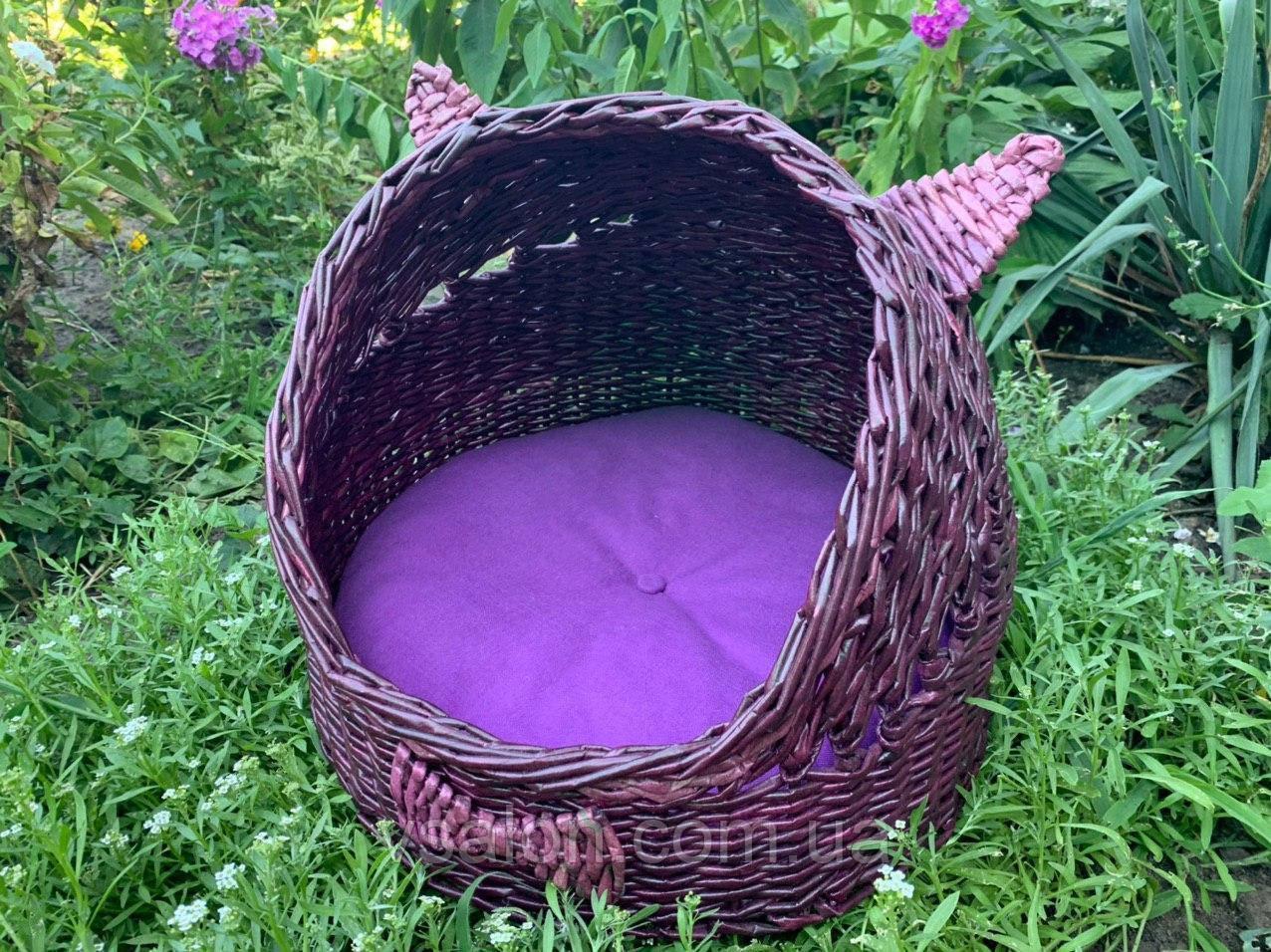 Плетений будиночок для котів (подушка в подарунок)