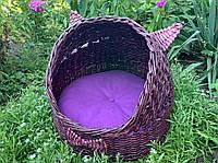 Плетеный домик для котов (подушка в подарок), фото 1