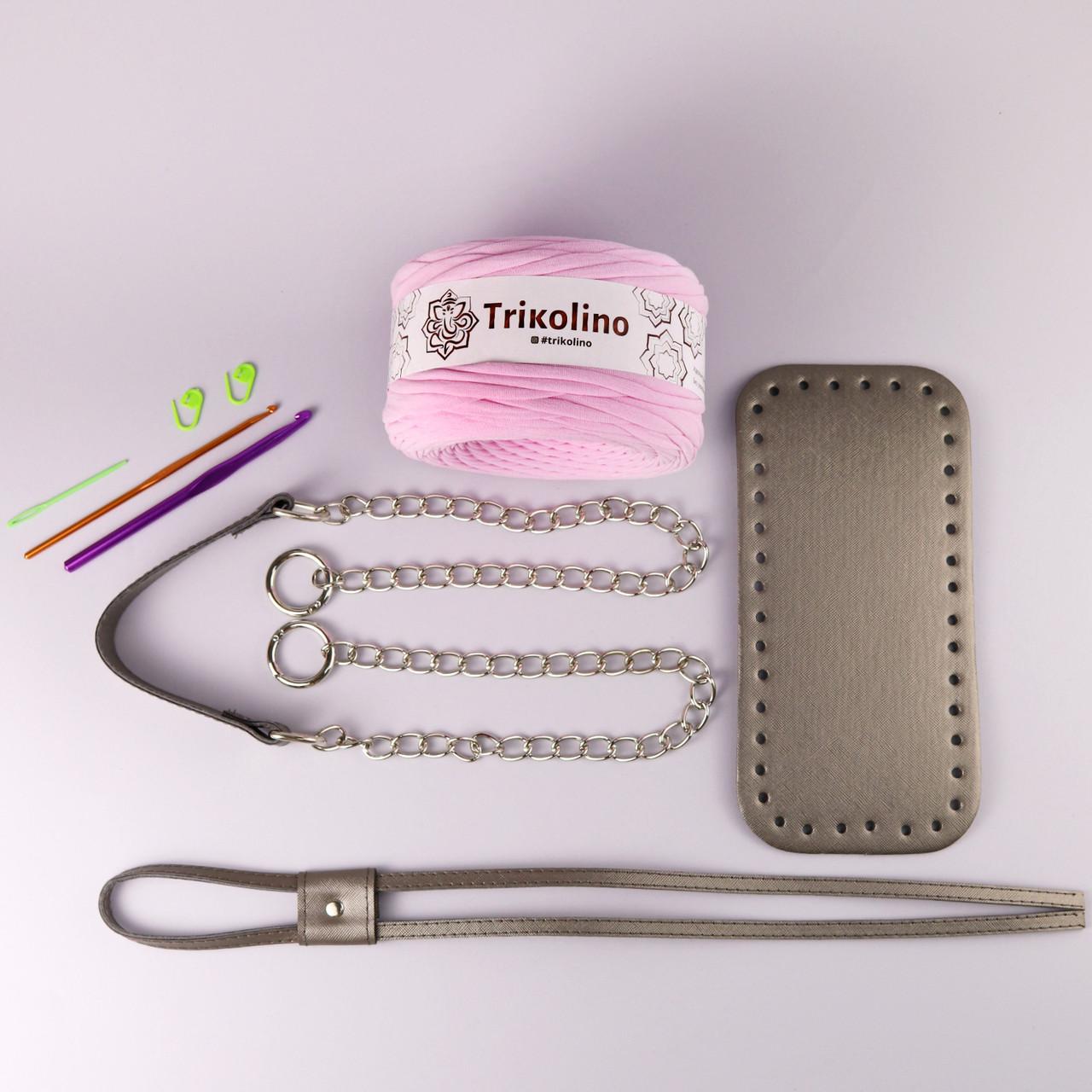 Набор для сумки-торбы Металлик МАКСИ (8 позиций-Розовый жемчуг)