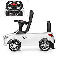 Каталка-толокар для малышей с магнитолой BAMBI M 3147C(MP3)-1 Mercedes прорезиненные колеса, фото 2
