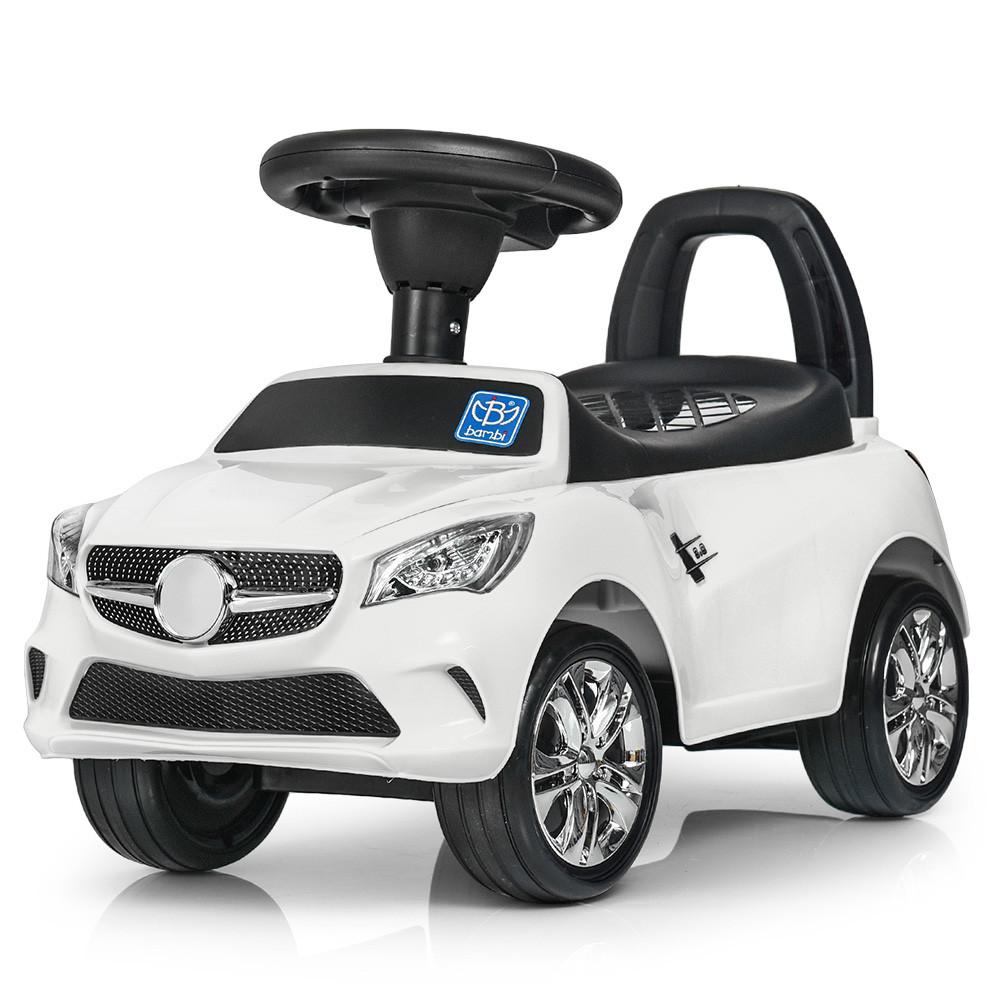 Каталка-толокар для малышей с магнитолой BAMBI M 3147C(MP3)-1 Mercedes прорезиненные колеса