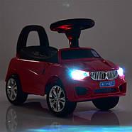 Каталка-толокар для малышей с магнитолой BAMBI M 3147C(MP3)-1 Mercedes прорезиненные колеса, фото 5