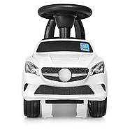Каталка-толокар для малышей с магнитолой BAMBI M 3147C(MP3)-1 Mercedes прорезиненные колеса, фото 4
