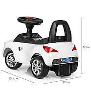Каталка-толокар для малышей с магнитолой BAMBI M 3147C(MP3)-1 Mercedes прорезиненные колеса, фото 3