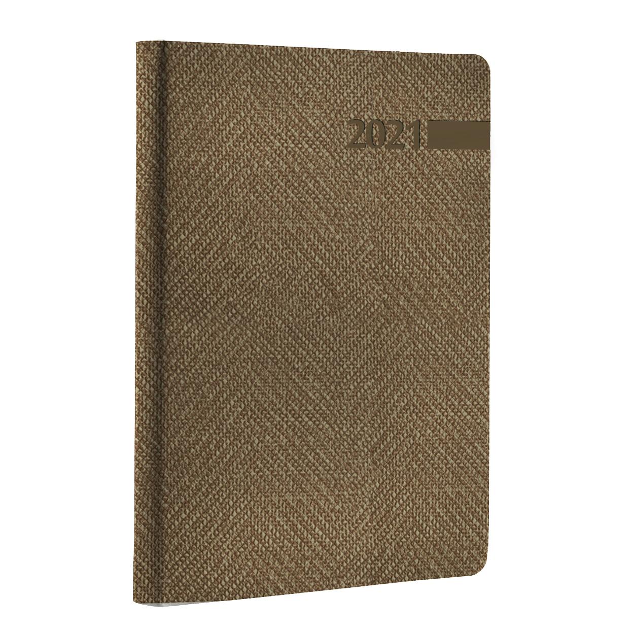 "Ежедневник А5 дат. Leo Planner ""Boss"", 2021, мягк., 352+2 стр., бежевый"