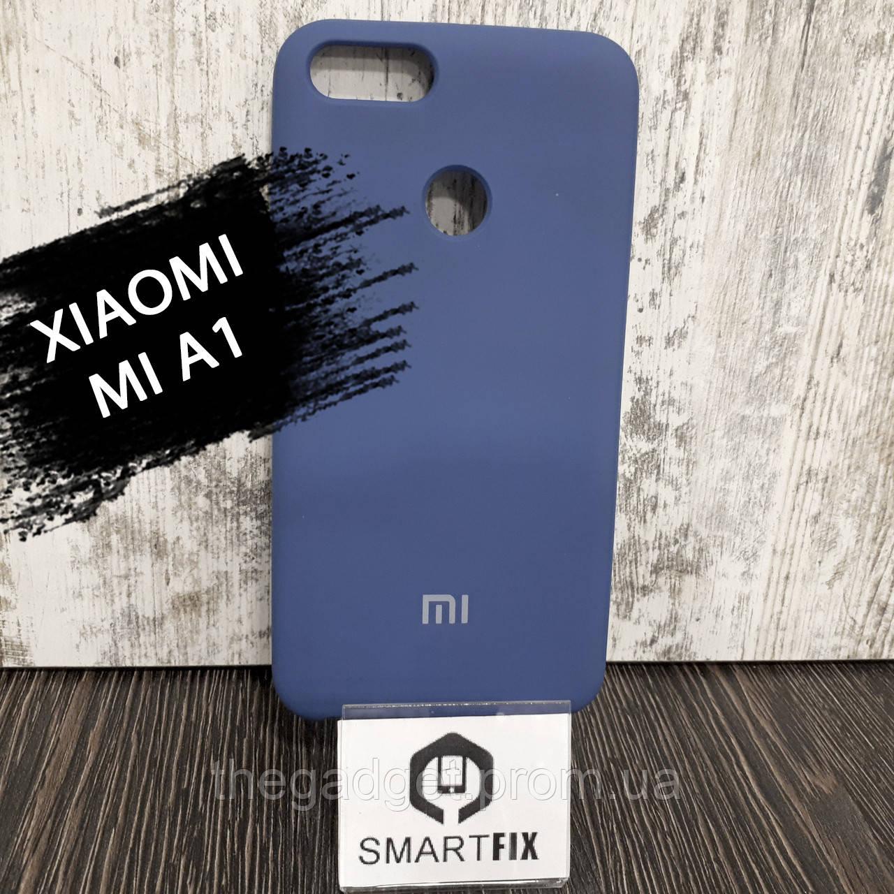 Силиконовый чехол для Xiaomi Mi A1 Синий