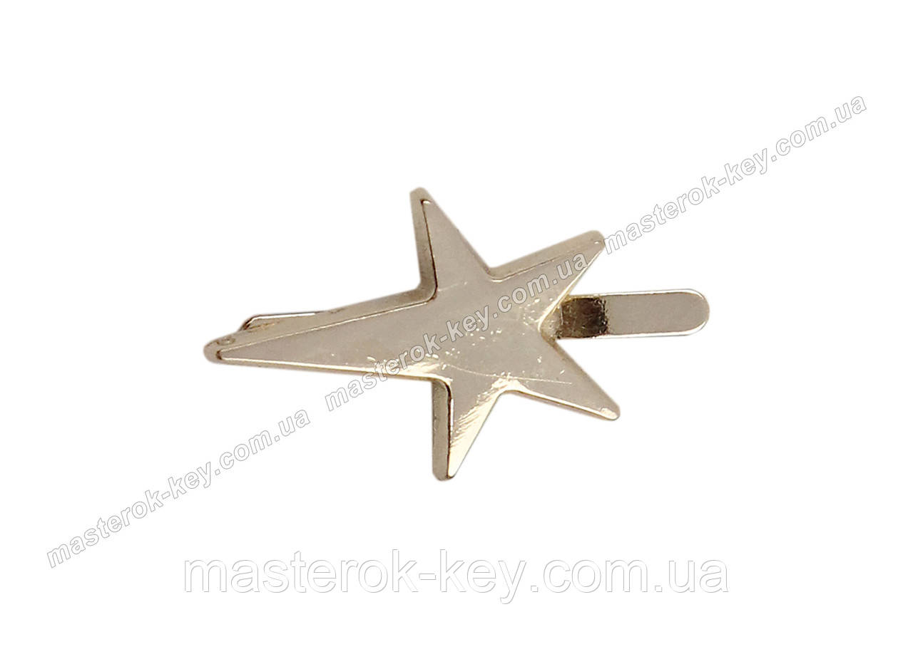 Украшение Звезда 11600 20*15мм Золото