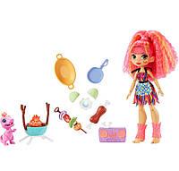 Ігровий набір Mattel Cave Club Печерний клуб Wild About BBQs барбекю + лялька Емберлі (B084L275FX) (GNL96)