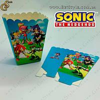 "Картонный пакет для еды Соник - ""Sonic Pack"" - 13 х 10 x 5 см, фото 1"