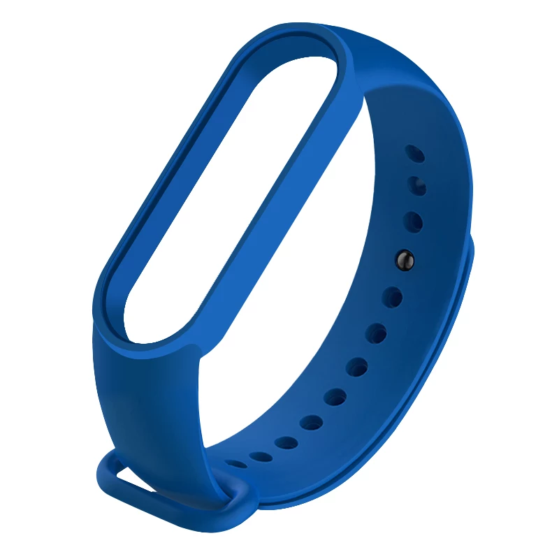 Силиконовый ярко-синий  ремешок  на фитнес трекер Xiaomi mi band 4 / 3 браслет аксессуар замена