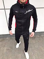 Спортивный костюм мужской Nike air x black осенний черный | Комплект Кофта + Штаны Найк ЛЮКС качества