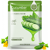 Маска тканевая CUCUMBER Natural skin care mask,30гр, фото 1