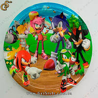 """Картонна тарілка Соник - """"Sonic Plate"""" - 18 х 18 см, фото 1"""