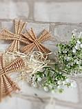 Вітряки плетені з лози, зоготовка для поробок 11*11 см  25 грн, фото 3