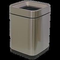 Ведро для мусора JAH 8 л серебряный металлик без крышки с внутренним ведром