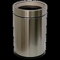 Ведро для мусора JAH 12 л круглое серебряный металлик без крышки и внутреннего ведра