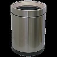 Ведро для мусора JAH 10 л круглое серебряный металлик без крышки с внутренним ведром