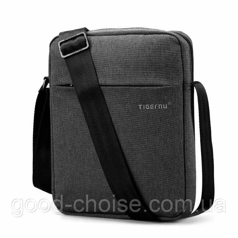 Мужская сумка (мессенджер) Tigernu Grey / Сумка барсетка (26х21х6 см)