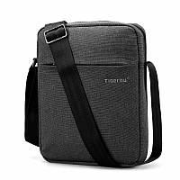Мужская сумка мессенджер Tigernu Grey / Сумка через плечо (26х21х6 см)