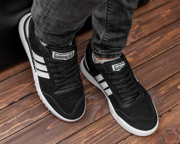 Замшевые мужские кроссовки Adidas, три цвета