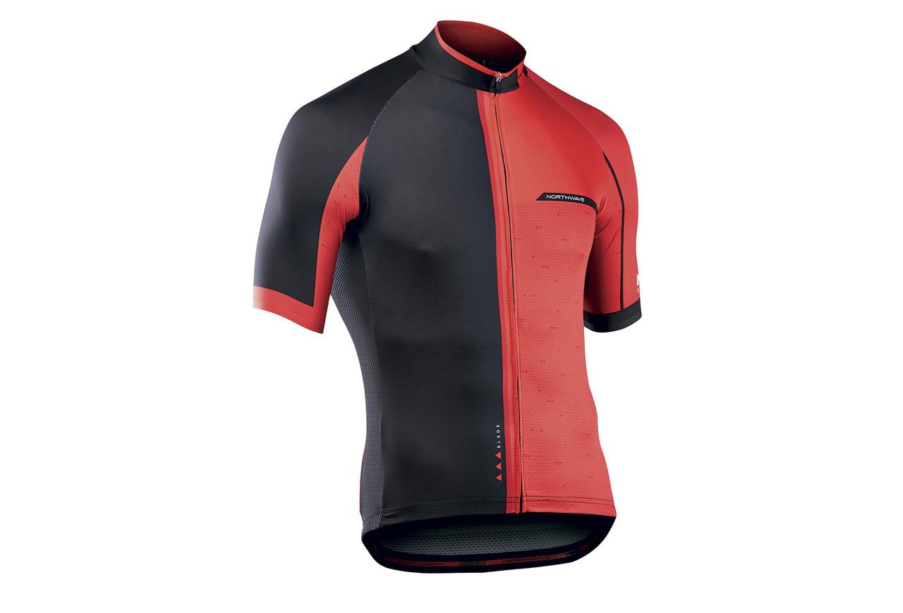 Велоджерсі Northwave Blade2 XL Jersey S/S на короткий рукав червоний/чорний