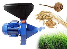 Зернодробилка-Траворезка-Корморезка зерно+трава+корнеплоды Эликор-1 исп.4 медная обмотка 1,7кВт