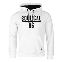 Толстовка мужская SoulCal&Co Cuff Over Head белая, фото 1