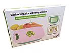 Овочерізка мультислайсер 9 в 1 складна, овочерізка, Multifunctionalslicer abd Planing wire slicer, фото 4