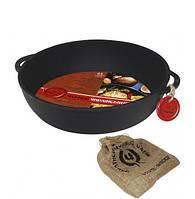 """Сковорода-жаровня чугунная """"Черный Чугун"""" Ø24см с двумя литыми ручками"""